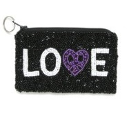 BEADED PEACE LOVE KEY CHAIN