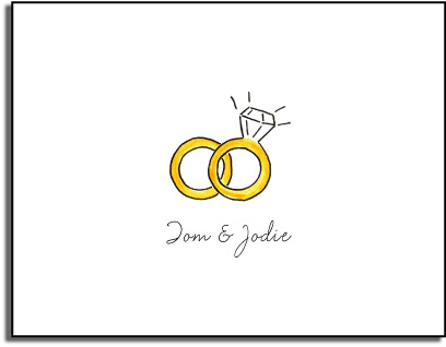 WEDDING RINGS FOLDED NOTE CARDS