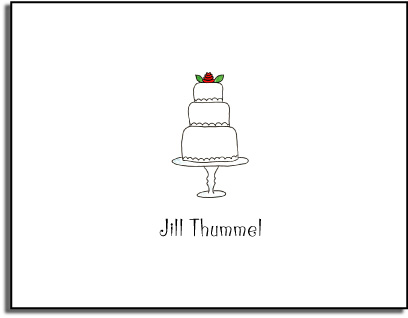 WEDDING CAKE FOLDED NOTE CARDS
