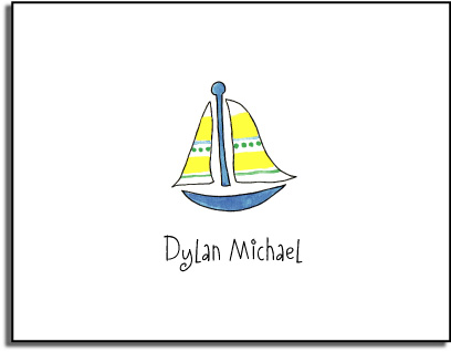SAILING FOLDED NOTE CARDS