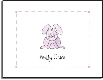 BUNNY FOLDED NOTE CARDS