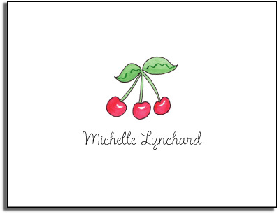 CHERRIES FOLDED NOTE CARDS