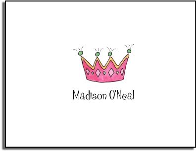 PRINCESS FOLDED NOTE CARDS