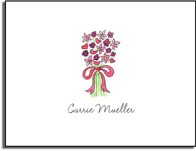 PINK BOUQUET FOLDED NOTE CARDS