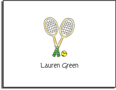 TENNIS FOLDED NOTE CARDS