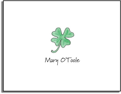 LUCKY CLOVER FOLDED NOTE CARDS