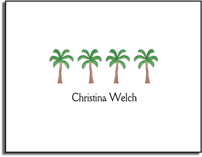 PALM TREES FOLDED NOTE CARDS