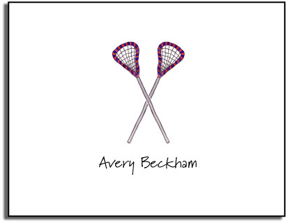 LACROSSE FOLDED NOTE CARDS