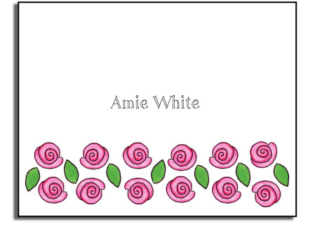 ROSE GARDEN FOLDED NOTE CARDS