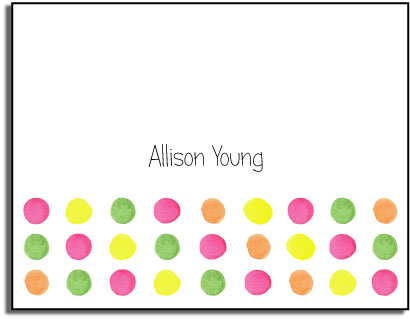 DOTS FOLDED NOTE CARDS