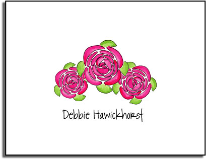 PINK PEONIES FOLDED NOTE CARDS