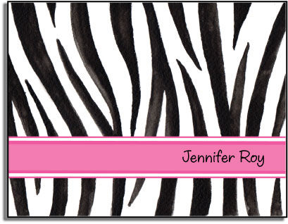 WILD ZEBRA FOLDED NOTE CARDS