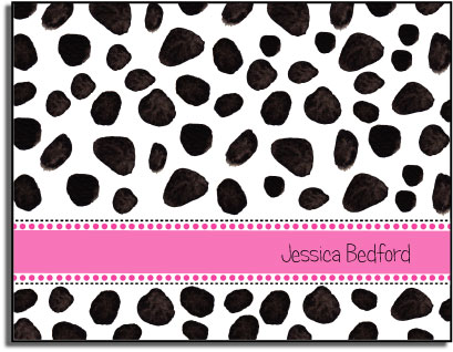 DALMATION DOTS FOLDED NOTE CARDS