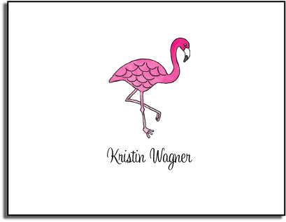PINK FLAMINGO FOLDED NOTE CARDS