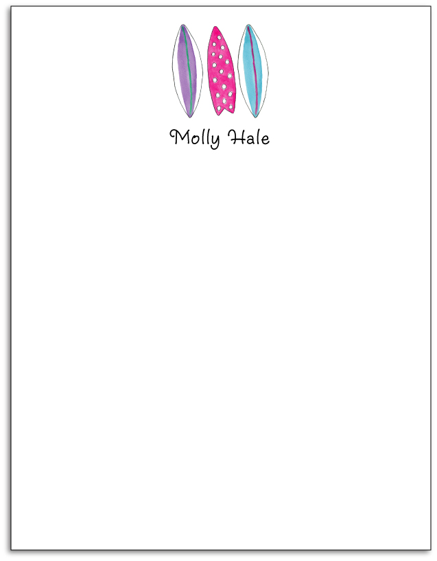 SURFER GIRL NOTEPAD