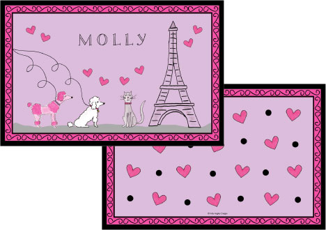 POODLES IN PARIS PLACEMAT