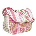 PAISLEY PINK MESSENGER PERSONALIZED DIAPER BAG