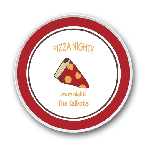 PIZZA NIGHT- PLATE AND BOWL