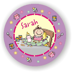 BABY GIRL PLATE