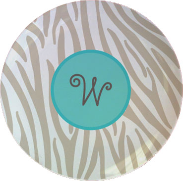 GREY ZEBRA TABLETOP PLACEMAT