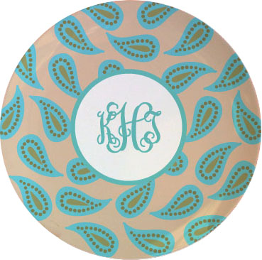 PAISLEY TABLETOP PLATE