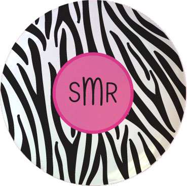 BLACK ZEBRA TABLETOP PLATE