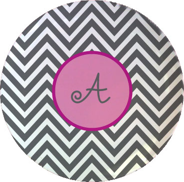 CHEVRON TABLETOP PLATE