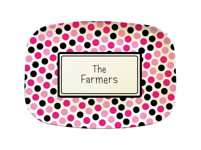 PINK DOTS TABLETOP PLATTER