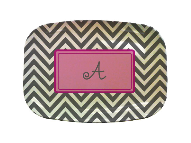 CHEVRON TABLETOP PLATTER