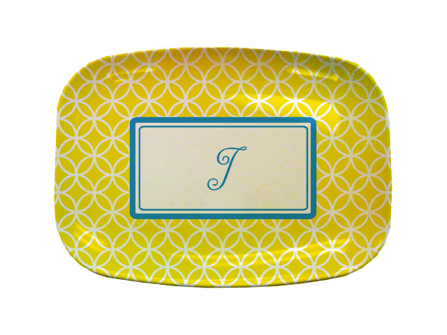 YELLOW CLOVER TABLETOP PLATTER