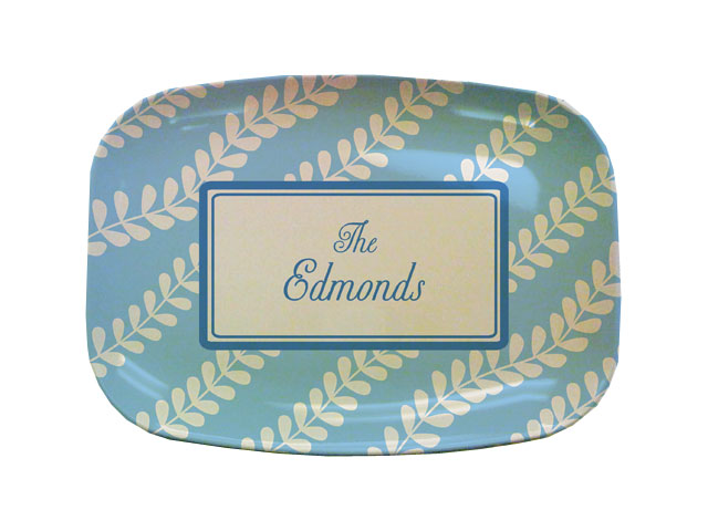 BLUE VINES TABLETOP PLATTER