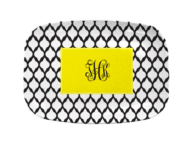 YELLOW LATTICE TABLETOP PLATTER