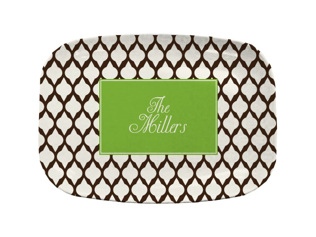 BROWN LATTICE TABLETOP PLATTER