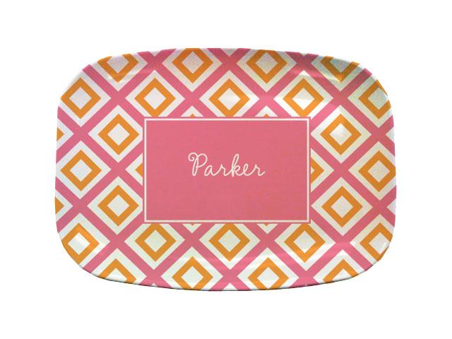 GEO PINK TABLETOP PLATTER