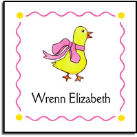 DUCK IN PINK VINYL SQUARE LABEL