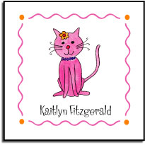 KITTY KITTY VINYL SQUARE LABEL