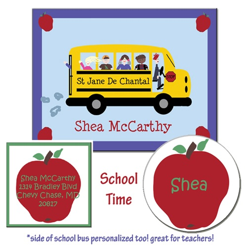 SCHOOL BUS GIFT SET