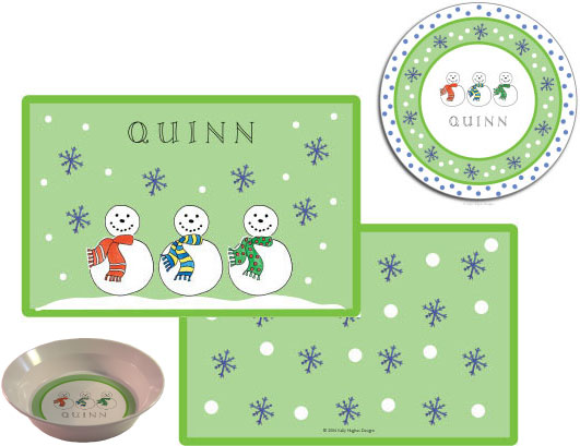 SNOWMEN 3 PC SET