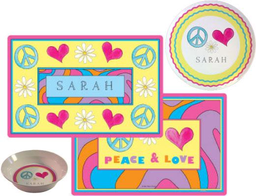 PEACE LOVE EAT 3 PC SET