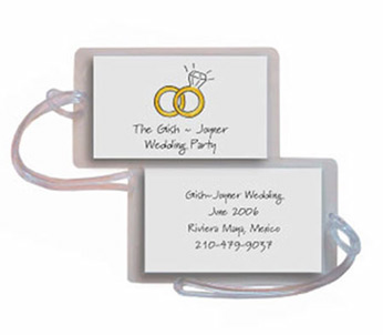 WEDDING RINGS LUGGAGE TAG