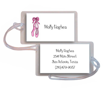 BALLERINA LUGGAGE TAG