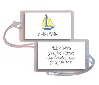 SAILBOAT LUGGAGE TAG
