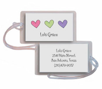 HEARTS LUGGAGE TAG