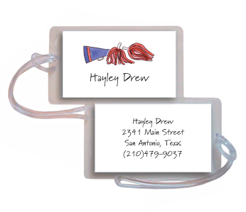 CHEERLEADER LUGGAGE TAG