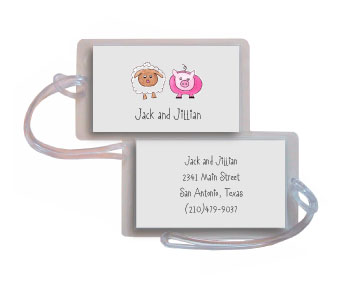 FARM FRIENDS LUGGAGE TAG