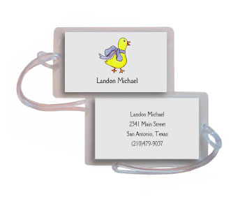 DUCK IN BLUE LUGGAGE TAG