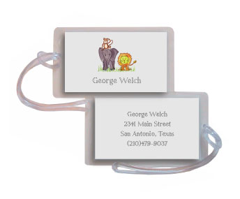 ZOO FRIENDS LUGGAGE TAG