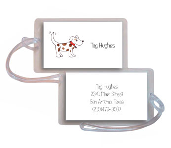 PUPPY DOG LUGGAGE TAG