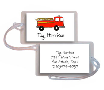 FIRETRUCK LUGGAGE TAG