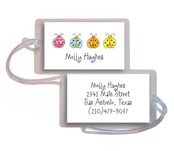 LUCKY LADYBUGS LUGGAGE TAG